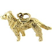 Vintage 14 Karat Yellow Gold Golden Retriever Charm