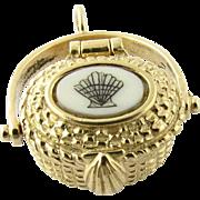 Vintage 14 Karat Yellow Gold Nantucket Basket Charm