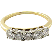 Vintage 18K Yellow Gold and Diamond Ring Size 7.75