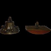 Vintage Brass Dartmoor Pixie Blotter and Inkwell