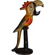 Vintage Cast Iron Painted Parrot Bottle Opener