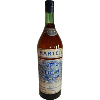 Vintage Martell Cognac Advertising Bottle