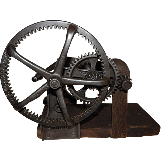 Antique 1898 Clizbe Brothers Star Sickle Grinder