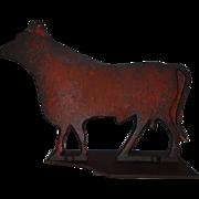 Early 20th Century Cast Iron Flat Fairbury Bull Windmill Weight