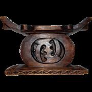 Vintage Carved Wood African Ashanti Stool