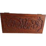 19th Century Victorian Miniature Blanket Chest with Ornate Carved Top