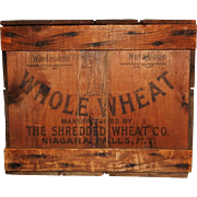 Early 20th Century Shredded Wheat Wooden Crate