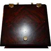 Late 19th Century Mahogany Coal Box With Brass Accessories and Pull Out Liner