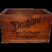 Wooden Domino Sugar Advertising Crate