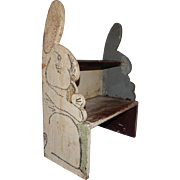Rustic Folky Childrens Wooden Rabbit Step Stool