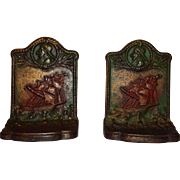 "Vintage Cast Iron Hubbard & Bradley ""Old Sailor"" Bookends"