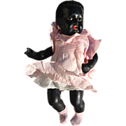 Lovely Black Composition Baby Doll