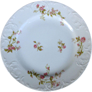 """Haviland Limoges Set of Two 8-5/8"""" Luncheon Plates With Pink Flowers"""