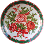 Lefton Holly and Roses Christmas Trinket Box 07674