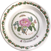 Portmeirion Christmas 1994 Shrubby Peony Decorative Plate