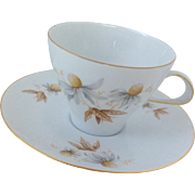 Rosenthal Thomas Coneflowers Teacup and Saucer Set Mid Century Modern MCM