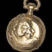 Antique OMEGA Solid 18k Gold Lady Art Nouveau Pocket or Pendant Watch