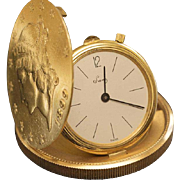 Vintage Solid Gold 20 Dollars Coin Pocket Watch by F. Piguet retailed by Eska