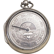 """""""Sun and Moon"""" - Antique British Pair Case Big Verge Fusee Pocket Watch from 1827"""
