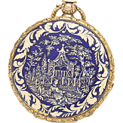 Antique Chinoiserie Enamel Gold Pocket Watch by Rochat Freres Geneve - Chinese Motifs