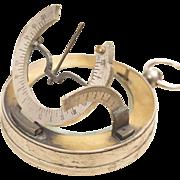 Antique XIX Nautical Sundial by SECRETAN A PARIS in Pocket Watch Case