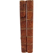 "Unusual Set of Books: ""The Tragedies of Sophocles"" Printed 1766, Volumes 1 and 2,"
