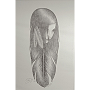 "Two Large Limited Edition Lithograph ""Feather"" Prints"