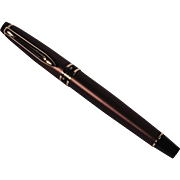 Handsome Vintage Expert Smart Brown and Gold Unused Waterman Fountain Pen