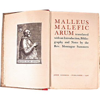 Book:Malleus Maleficarcum, Hammer of Witches, Montague Summers, 1928 1st Limited Edition
