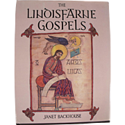 Book: The Linoisfarne Gospels by Janet Backhouse, Dated 1991, Coffee Table Size