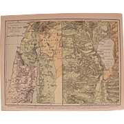 Three Old Maps of the Holy Land, Jerusalem and Palestine.