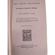 Interesting RARE Book: Ten Great Religions: An Essay in comparative Theology, Dated 1892.