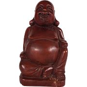 Hand Carved Antique Chinese Wooden Buddha