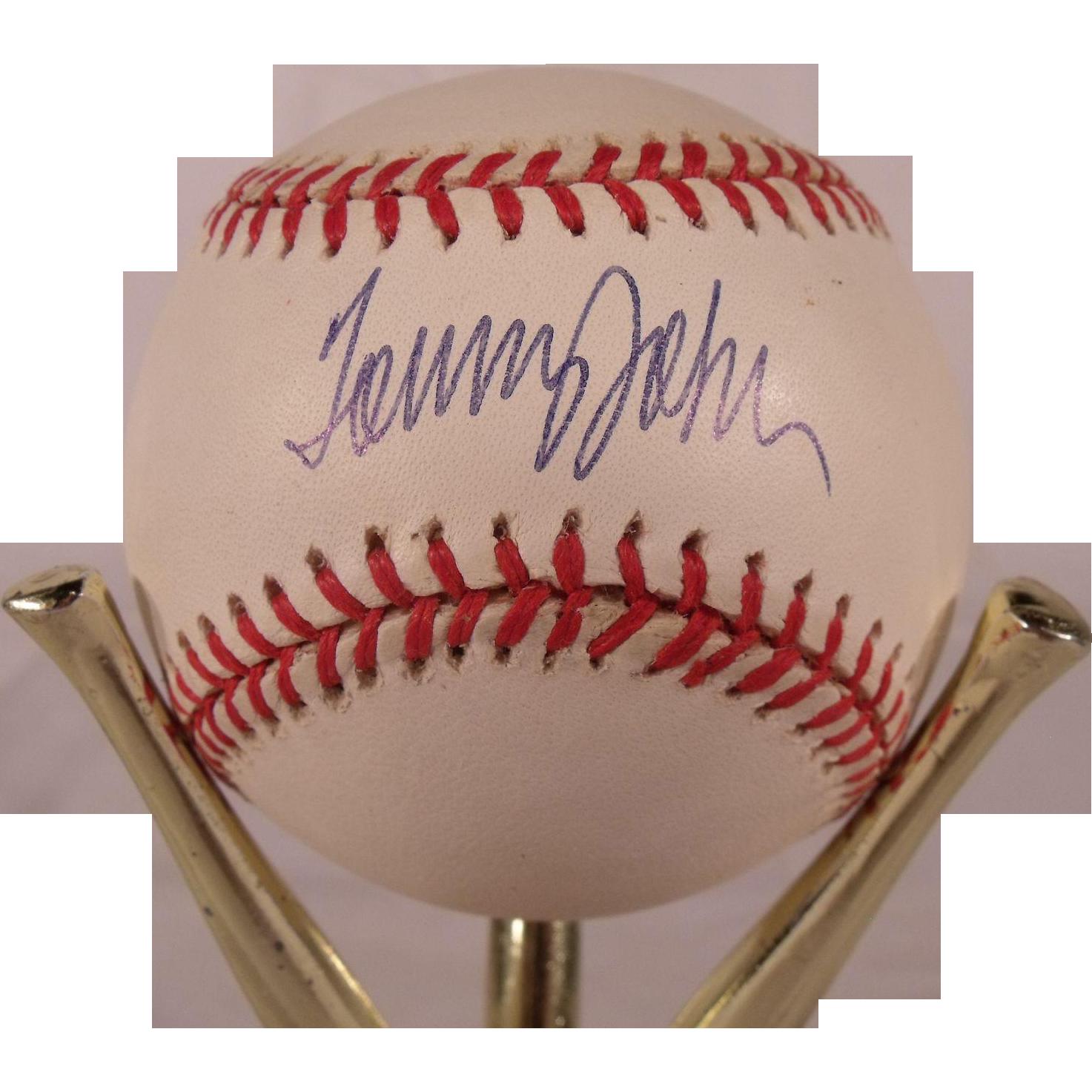 Vintage Tommy John Autographed Baseball The Royal