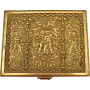 Stunning Antique Large Repousse Bronze Box by Erhard & Sohne. c 1900