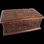 Celebrity Owned Large Antique c1850 Renaissance Carved Walnut Casket w/Provenance
