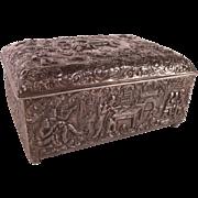 Wonderful Rare Antique 1889 Repousse Silver Box