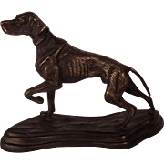 Charming Antique Victorian Bronze Retriever Dog Sculpture