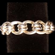 Stunning Vintage Large Fine Sterling Silver Bracelet