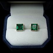 50% OFF FINAL SALE! Magnificent Fine 3 cttw AAA Colombian Emerald Stud Earrings