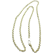 "Fine Vintage Heavy 14K Yellow Gold Chain, 24"" Long"
