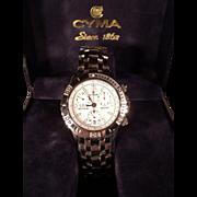 Stunning Vintage CYMA Navy Star Chronograph Wristwatch