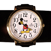 Large Vintage  Lorus Mickey Mouse Wristwatch