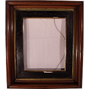 Antique Victorian Deep Shadow Box Picture Frame with Carved Panel