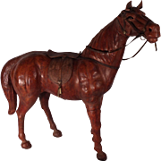Abercrombie and Fitch Large Leather Horse