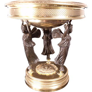 SALE! Museum Quality French 1850 Bronze Dore Epergne by Alphonse Giroux
