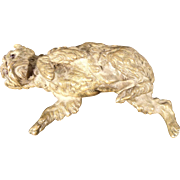 Very Rare Antique 1840's French Bronze Dog Paper Weight by Alphonse Giroux