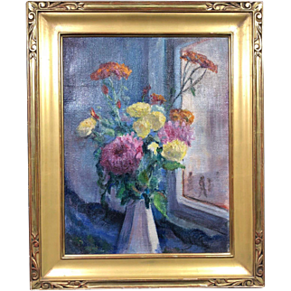 Very Rare Still Life Oil Painting by Roy Cleveland  Nuse