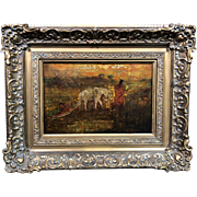 "Exceptional  Ralph Albert  Blakelock  ""The Oak Cart"" Oil Painting c1890, Provenance"