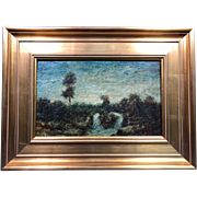 "Magnificent  Ralph Albert Blakelock ""Evening"" Oil Painting c1885 Provenance"
